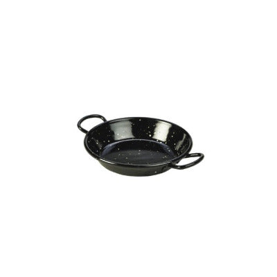 Genware Enamel Paella Pan Black 12cm - Coffeecups.co.uk