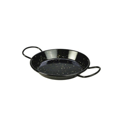Genware Enamel Paella Pan Black 15cm - Coffeecups.co.uk