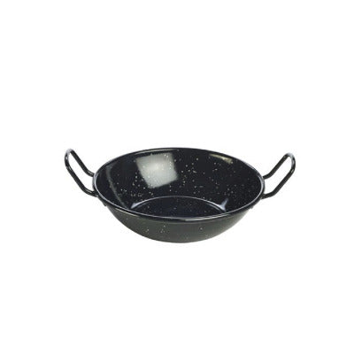 Genware Enamel Dish Black 16cm - Coffeecups.co.uk