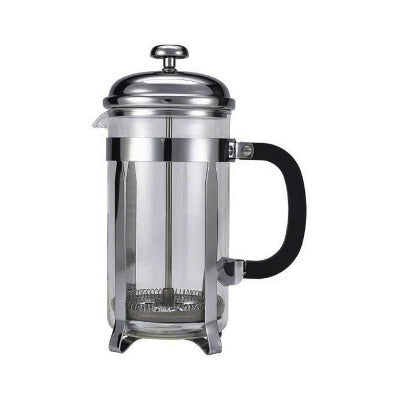 Genware Chrome Cafetiere 6 Cup 26oz - Coffeecups.co.uk