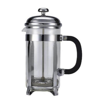 Genware Chrome Cafetiere 8 Cup 32oz - Coffeecups.co.uk