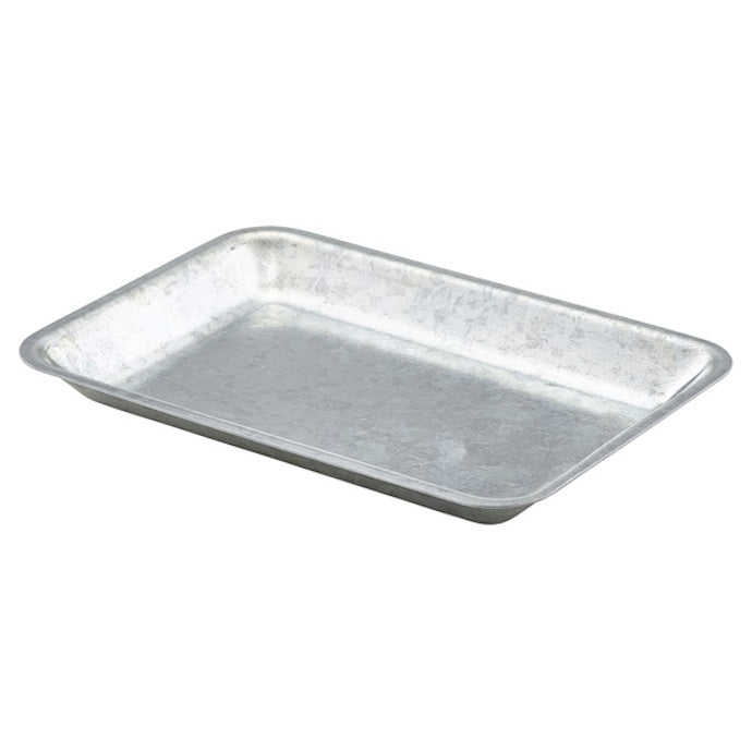 Genware Foodservice Tray Galvanised Steel 20 x 14cm - Coffeecups.co.uk