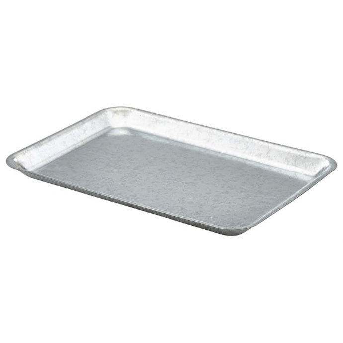 Genware Foodservice Tray Galvanised Steel 31.5 x 21.5cm - Coffeecups.co.uk
