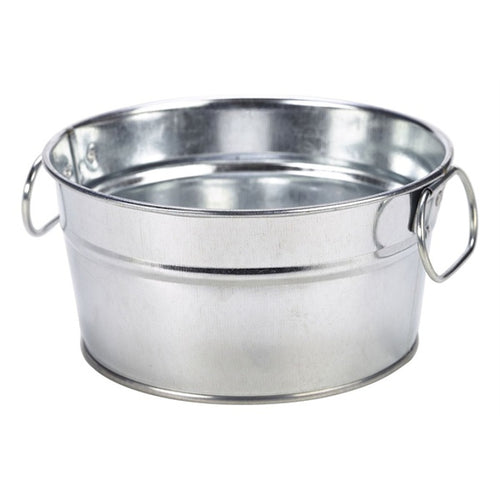 Genware Galvanised Steel Sharing Bucket 15cm - Coffeecups.co.uk