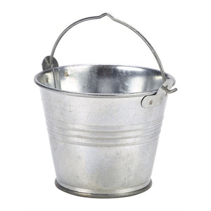 Genware Galvanised Steel Serving Bucket 7cm - Coffeecups.co.uk