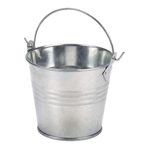 Genware Galvanised Steel Serving Bucket 8.5cm - Coffeecups.co.uk