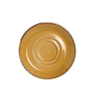 Steelite Terramesa Double Well Saucer MUSTARD 16.5cm - Coffeecups.co.uk
