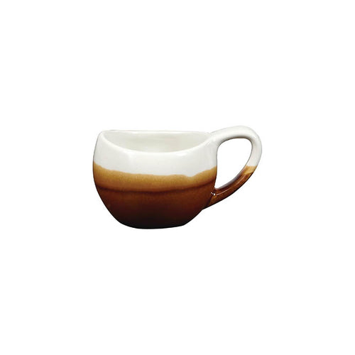 Churchill Monochrome Bulb Cup Cinnamon 2.5oz - Coffeecups.co.uk