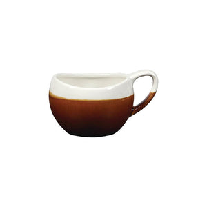 Churchill Monochrome Bulb Cup Cinnamon 6.3oz - Coffeecups.co.uk