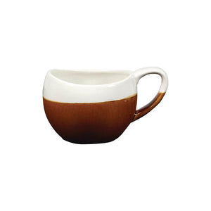 Churchill Monochrome Bulb Cup Cinnamon 8.5oz - Coffeecups.co.uk