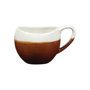 Churchill Monochrome Bulb Cup Cinnamon 10.5oz - Coffeecups.co.uk