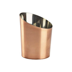 Genware Copper Angled Cone Plain 11.6cm - Coffeecups.co.uk