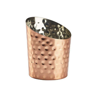 Genware Copper Angled Cone Hammered 11.6cm - Coffeecups.co.uk