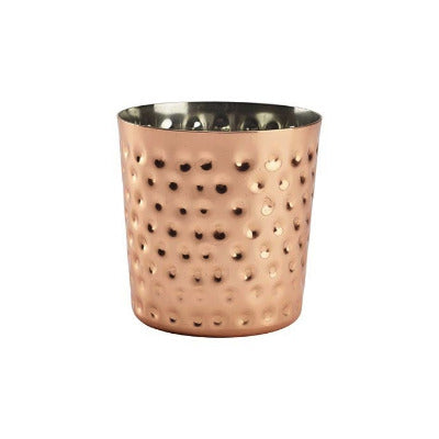 Genware Copper Serving Cup Hammered 14.8oz - Coffeecups.co.uk