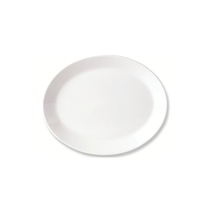 Steelite Simplicity Oval Coupe Plate 20cm - Coffeecups.co.uk