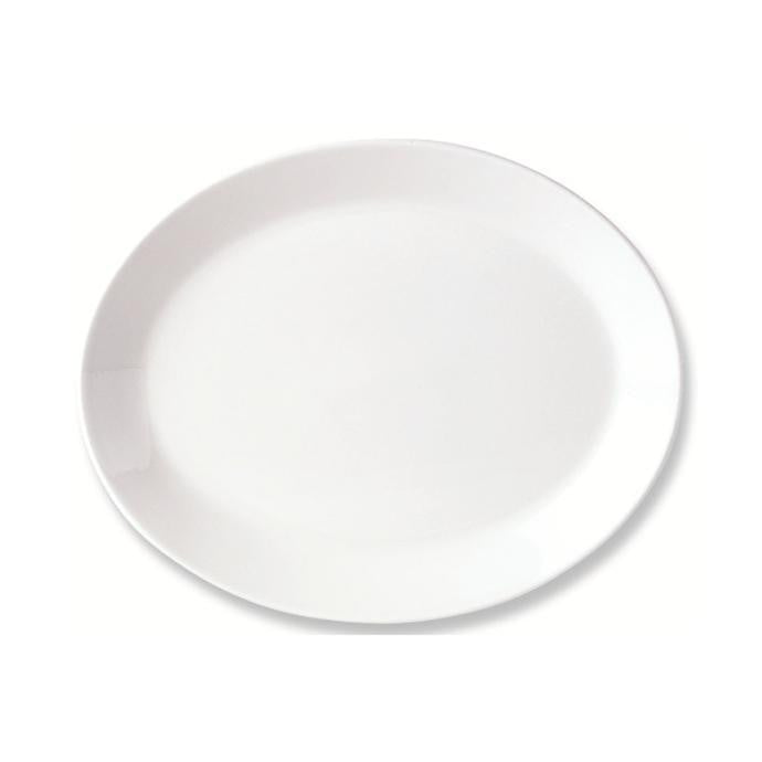 Steelite Simplicity Oval Coupe Plate 27.5cm - Coffeecups.co.uk