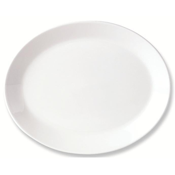 Steelite Simplicity Oval Coupe Plate 30cm - Coffeecups.co.uk