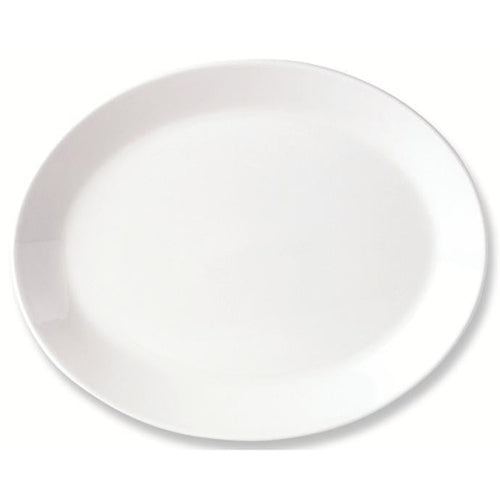 Steelite Simplicity Oval Coupe Plate 34cm - Coffeecups.co.uk