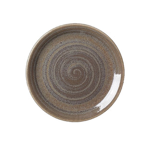 Steelite Revolution Coupe Plate Granite 20.25cm | Coffeecups.co.uk