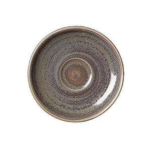 Steelite Revolution Saucers Granite 12.5cm | Coffeecups.co.uk