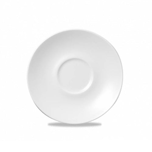 Churchill Bulb Whiteware Saucer 15.6cm - Coffeecups.co.uk