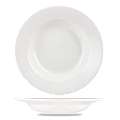 Churchill Alchemy White Round Pasta Bowl 30.5cm - Coffeecups.co.uk