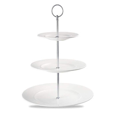Churchill Alchemy White Three-Tier Plate Tower 28cm - Coffeecups.co.uk