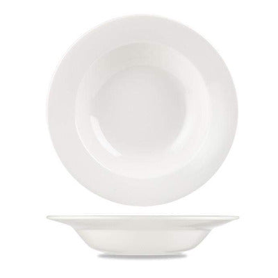 Churchill Alchemy White Rimmed Soup Bowl 24.5cm - Coffeecups.co.uk
