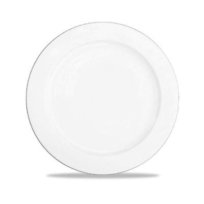 Churchill Alchemy White Rimmed Plate 25cm - Coffeecups.co.uk