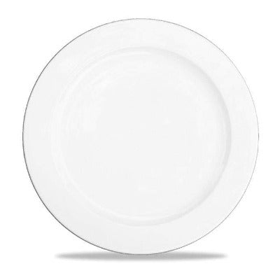 Churchill Alchemy White Rimmed Plate 27cm - Coffeecups.co.uk