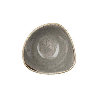 Churchill Stonecast Triangular Bowl 15.3cm PEPPERCORN GREY - Coffeecups.co.uk