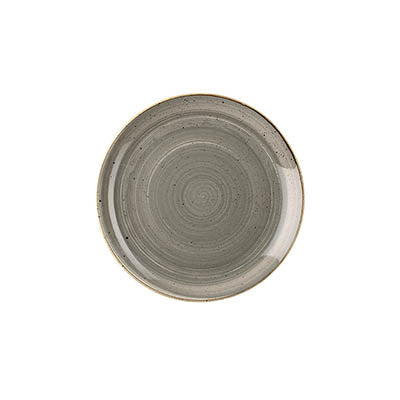 Churchill Stonecast 16.5cm Coupe Plate PEPPERCORN GREY - Coffeecups.co.uk