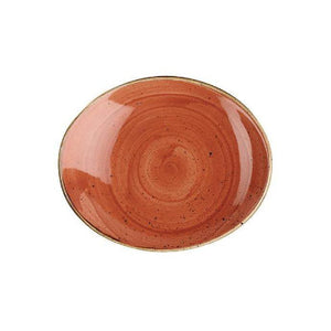 Churchill Stonecast Oval Coupe Plate 19.2cm SPICED ORANGE - Coffeecups.co.uk