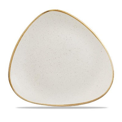 Churchill Stonecast Triangular Plate Barley White 31.1cm
