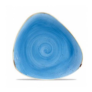 Churchill Stonecast Triangular Plates Cornflower Blue 26.5cm | Coffeecups.co.uk