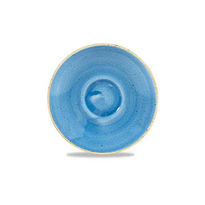 Churchill Stonecast Espresso Saucers Cornflower Blue 11.75cm | Churchill Vitrified China | Coffeecups.co.uk