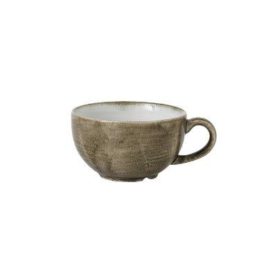 Churchill Stonecast Patina Cappuccino Cup Antique Taupe 8oz | Coffeecups.co.uk