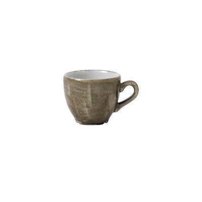 Churchill Stonecast Patina Espresso Cup Antique Taupe 3.5oz | Coffeecups.co.uk