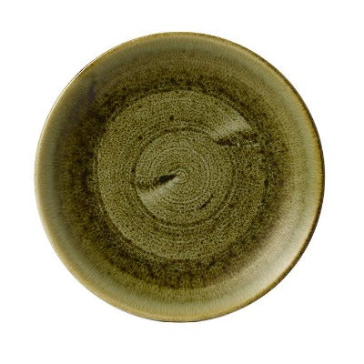 Churchill Stonecast Plume Coupe Plates 29cm Olive | Coffeecups.co.uk