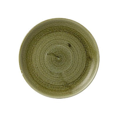 Churchill Stonecast Plume Coupe Plates 26cm Olive | Coffeecups.co.uk