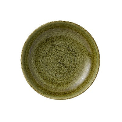 Churchill Stonecast Plume Coupe Bowls 25cm Olive | Coffeecups.co.uk