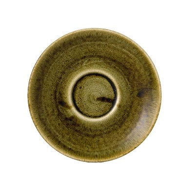 Churchill Stonecast Plume Saucers 15.6cm Olive | Coffeecups.co.uk