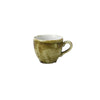 Churchill Stonecast Plume Espresso Cups 3.5oz Olive | Coffeecups.co.uk