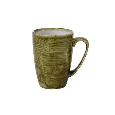 Churchill Stonecast Plume Mugs 12oz Olive | Coffeecups.co.uk
