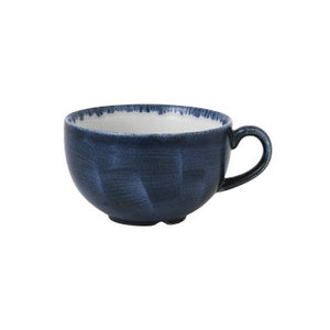 Churchill Stonecast Plume Cappuccino Cups 12oz Ultramarine | Coffeecups.co.uk