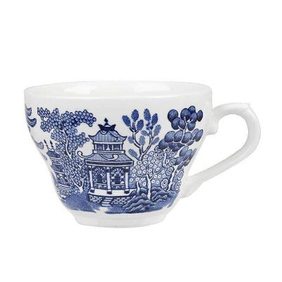 Churchill Vintage Blue Willow Georgian Teacup 7oz - Coffeecups.co.uk