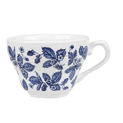 Churchill Vintage Blue Bramble Georgian Teacup 7oz - Coffeecups.co.uk