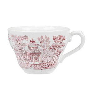 Churchill Vintage Cranberry Willow Georgian Teacup 7oz - Coffeecups.co.uk
