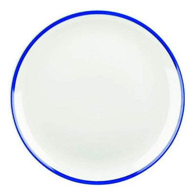 Churchill Retro Blue Coupe Plate 28.8cm - Coffeecups.co.uk