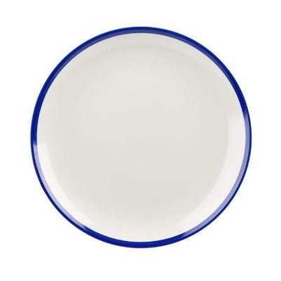 Churchill Retro Blue Coupe Plate 26cm - Coffeecups.co.uk